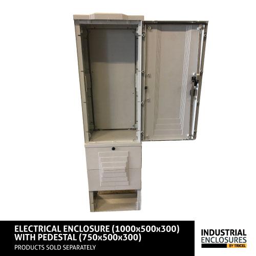 1000x500x300-Enclosure-and-Pedestal_Door_Opened
