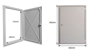 Electric meter box cover (large) or outer frame & door