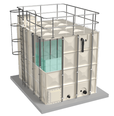 Sectional tank tricel water
