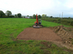 300mm of 20mm washed gravel for base