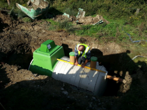 Installation of Tricel Novo IRL10 wastewater treatment plant