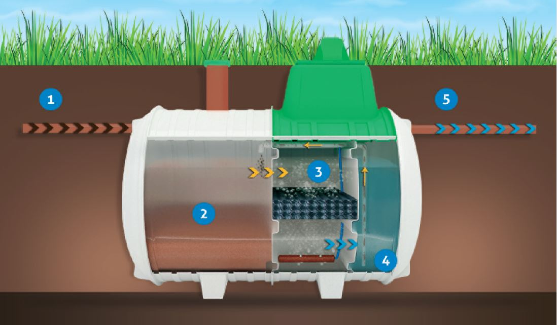 How does a wastewater treatment plant work