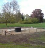 Finished Tricel installation with separate concrete settlement and buffer tanks