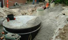 Tricel Maxus installation with combined GRP Settlement and buffer tanks