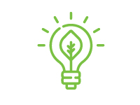 Illustration of Seedling Growing Within a Lightbulb